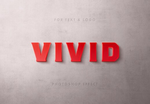 Red Light Box 3D Text Effect Mockup