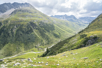 Beautiful valley and alpine landscape