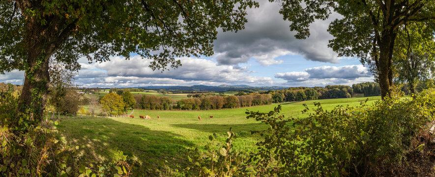 Rilhac Treignac (Corrèze, France) - Vue panoramique sur les Monédières