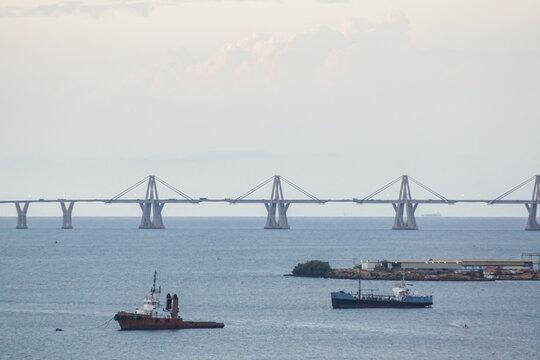 bridge over lake maracaibo of Venezuela
