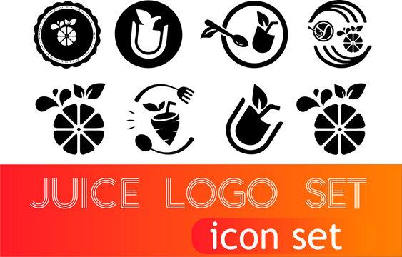Juice Logo, Icon set