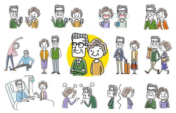 人物セット:シニア夫婦、コレクション