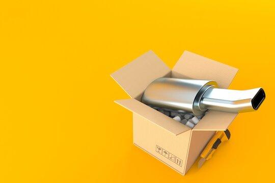 Muffler inside package