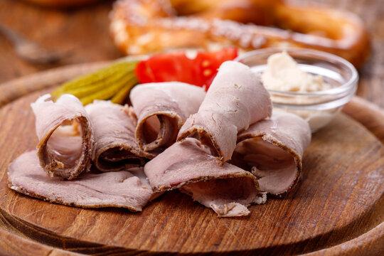 bavarian sliced cold pork