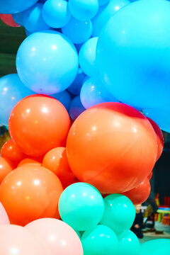 Balloons showing splendid colors. The balloons background.