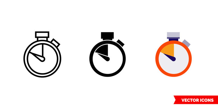 Coming soon icon of 3 types color, black and white, outline. Isolated vector sign symbol.