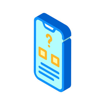electronic voting isometric icon vector illustration sign
