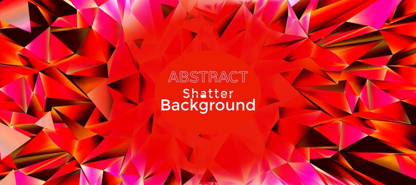 Abstract red shatter backround with blank space