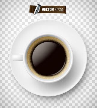 Tasse de café vectorielle sur fond transparent