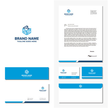 letter STS and brand identity vector
