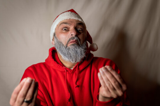 santa claus makes an offer like a mafia godfather