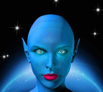 The face of an alien