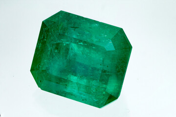 gemstone and Colombian emerald green crystals for jewelry
