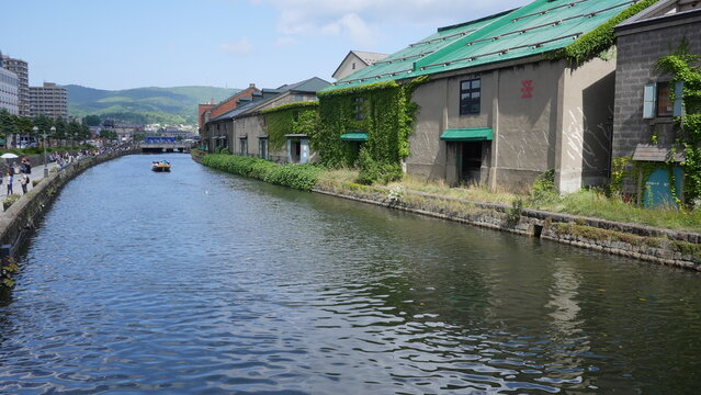 Otaru canal is a Beautiful canal lined by old warehouses and retail shops and restaurants
