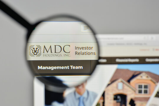 Milan, Italy - November 1, 2017: MDC Holdings logo on the website homepage.