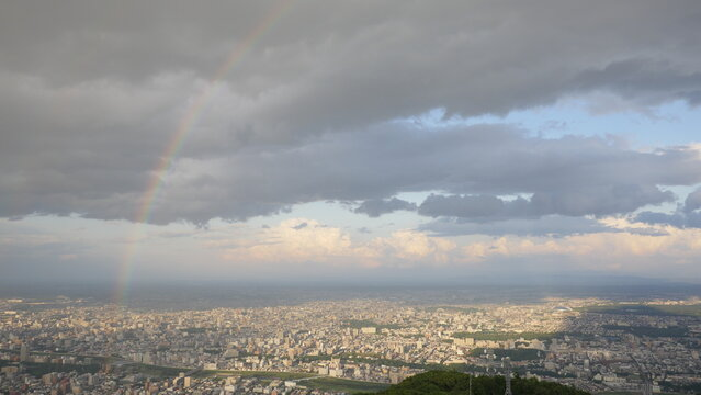 Mount Moiwa is a landmark peak with a cable car to the summit, known for its nighttime panoramas over Sapporo