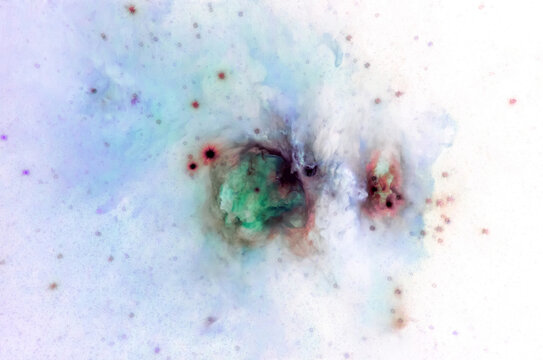 Abstract space art of nebula formation