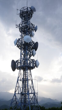 broadcast mobile phone tower on the lover sanctuary on Mount Moiwa