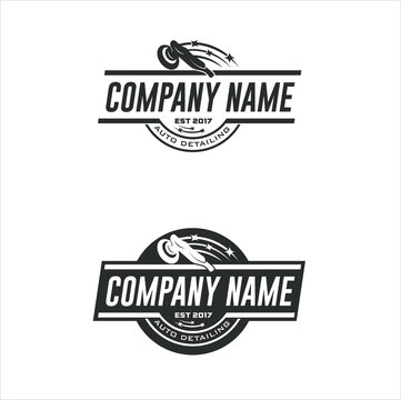 Collections of logo temple for auto detailing.