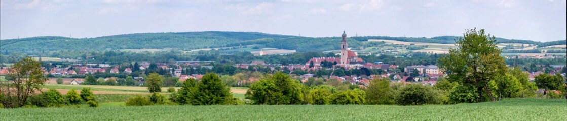 panoramic view of a landscape near herzogenburg, lower austria