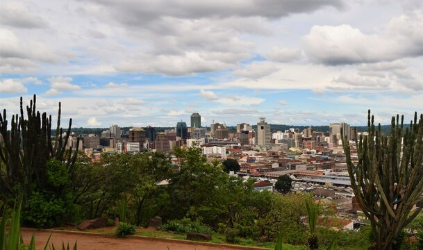 Panoramic view of Harare city centre, Zimbabwe