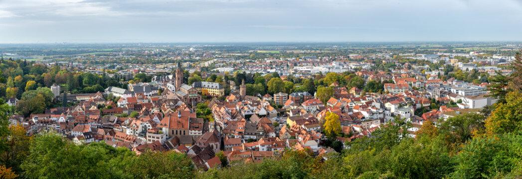 Weinheim Panorama Altsatdt Aussicht