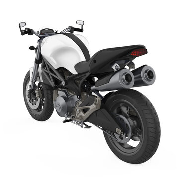 Sport Motorcycle Isolated