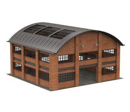 Storage Warehouse Building Isolated
