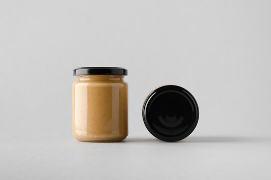 Peanut / Almond / Nut Butter Jar Mock-Up - Two Jars