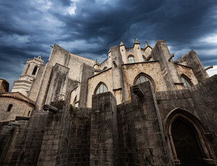 Wall Mural - view of Catedral de Gerona. Spain.