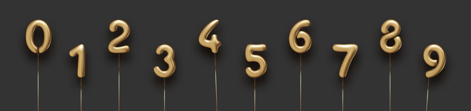 Set of isolated golden balloon numbers.