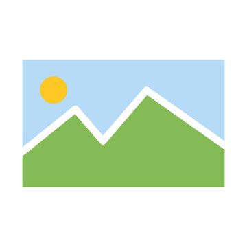 Gallery Icon Color Design Vector Template Illustration