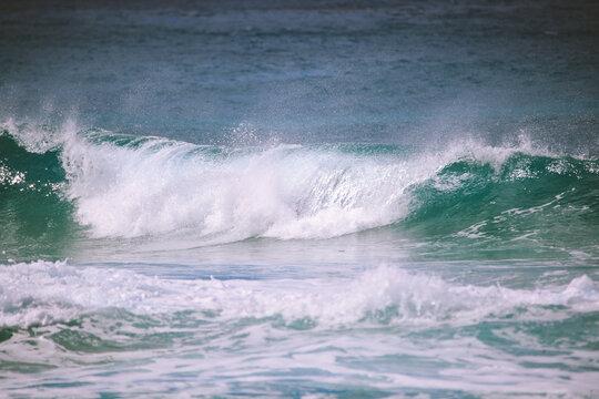 Waves  surfing Banzai Pipeline, North shore, Oahu, Hawaii