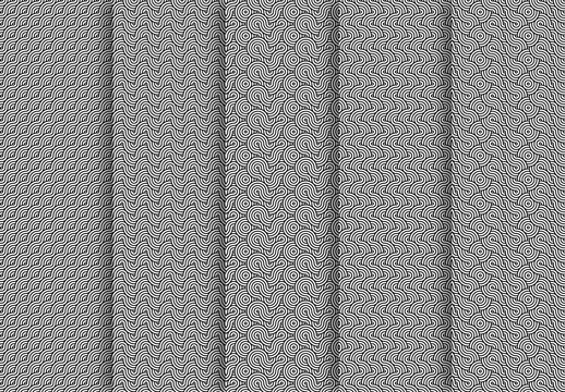 Overlapping Wavy Patterns Kit