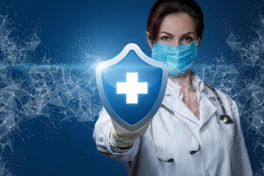 Patient health protection concept.