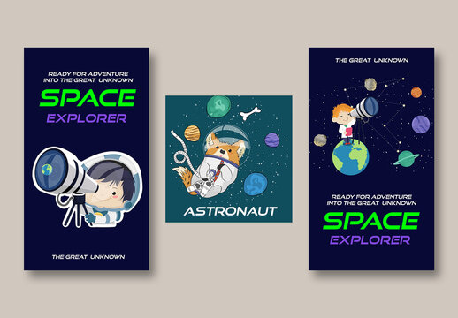 Space Astronaut Post Layouts