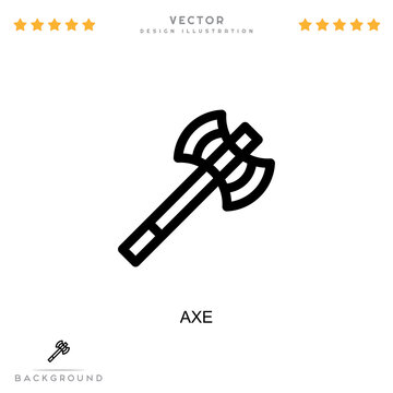Axe icon. Simple element from digital disruption collection. Line Axe icon for templates, infographics and more