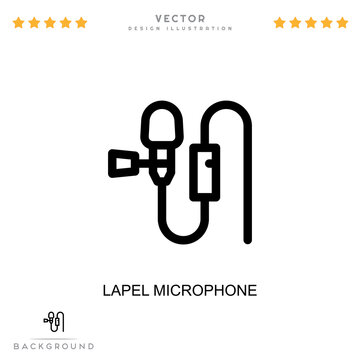 Lapel microphone icon. Simple element from digital disruption collection. Line Lapel microphone icon for templates, infographics and more