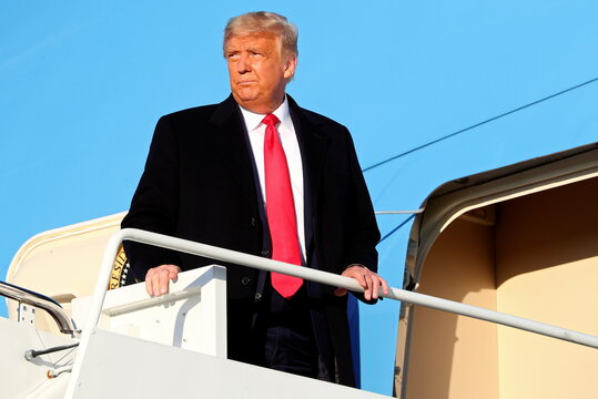 U.S. President Trump boards Air Force One at Joint Base Andrews