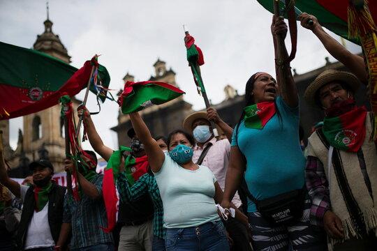 Protest against President Ivan Duque's policies