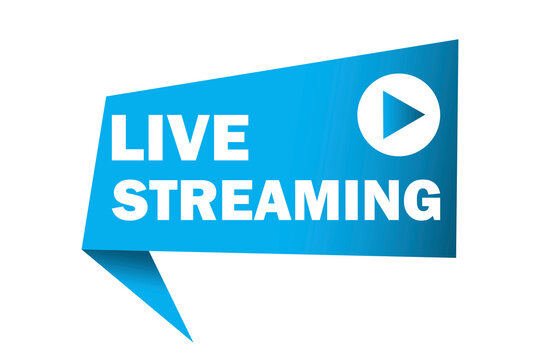 Live stream vector logo. Online news icon. Live streaming. Stock image. EPS 10.