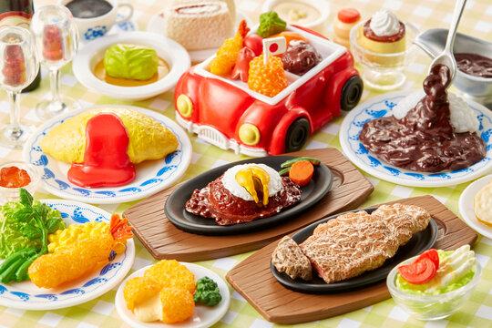 精巧に作られているミニチュア食品---洋食屋さんのメニュー一覧