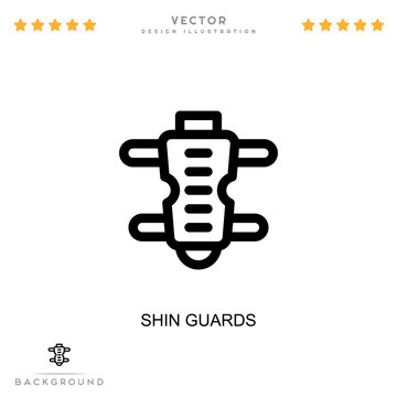 Shin guards icon. Simple element from digital disruption collection. Line Shin guards icon for templates, infographics and more