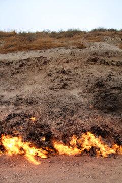 Yanar Dag-Burning Mountain, Azerbaijan