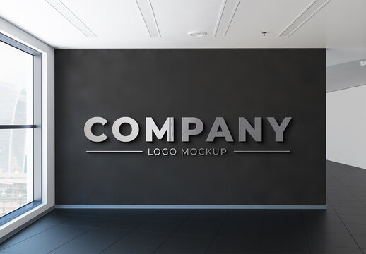 Chrome Logo in Office Mockup