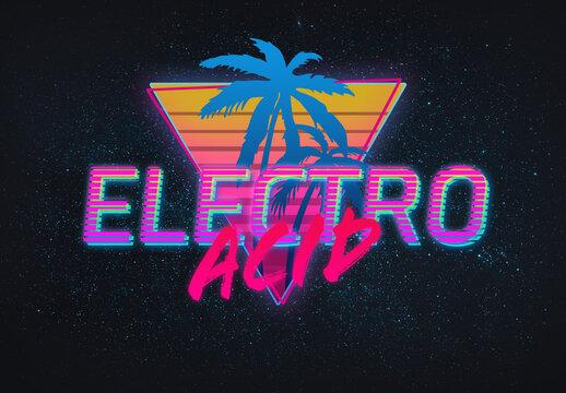 Electro Acid Retro Effect Mockup
