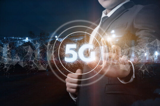 Concept of the fifth generation of mobile communications.