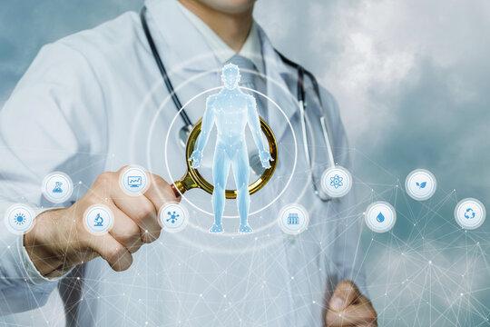Patient research diagnostic concept.