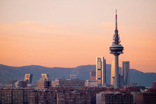 Vista panorámica de Madrid