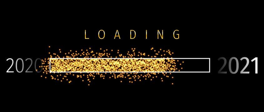 Loading 2021 (Ladebalken 2021) - Loading Bar 2021. Loading 2001 New Year - New Year Countdown 2021 Vector. New Year 2021 Greetings Loading.